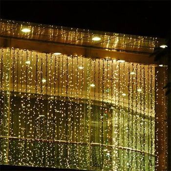 Wall of Outdoor String Lights