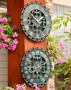 Wall Clock and Thermometer Medallions